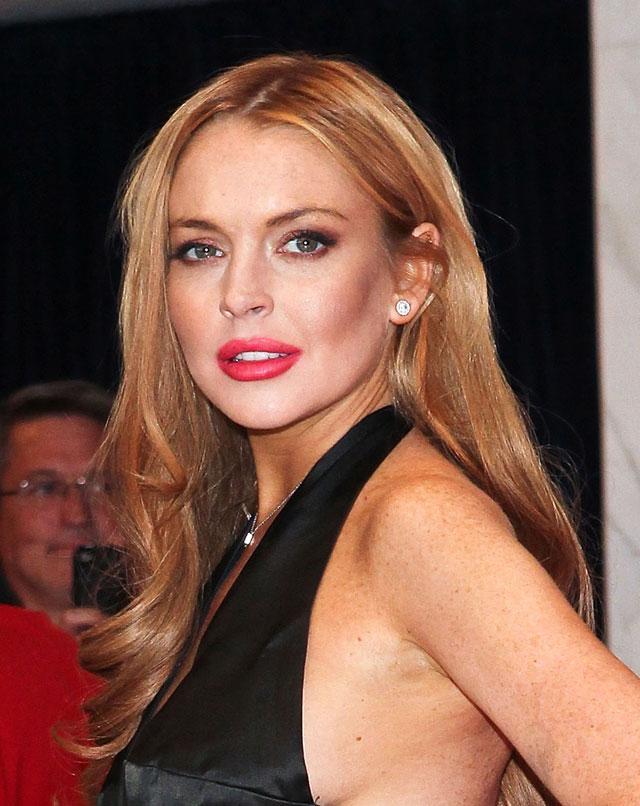 Celebrity colorist and Redken Creative Consultant for Color Tracey Cunningham recently took Lindsay Lohan back to red using Chromatics color. Photo by: Getty Images