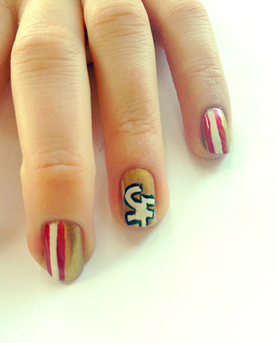 Super Bowl 2013 Nail Art Showdown Beauty Blitz