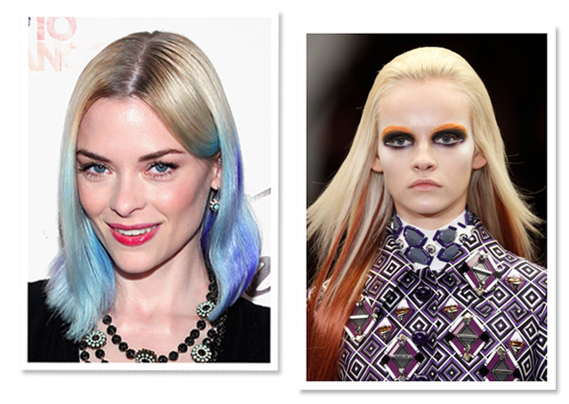 Photos by: Getty Images (left) and Redken (right)