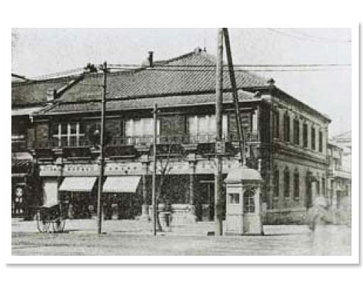 The Shiseido storefront circa 1906.