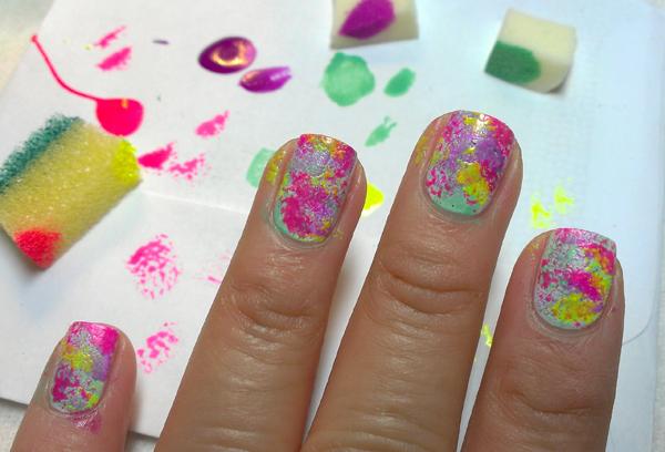 Diy Nail Art Rainbow Granite Beauty Blitz