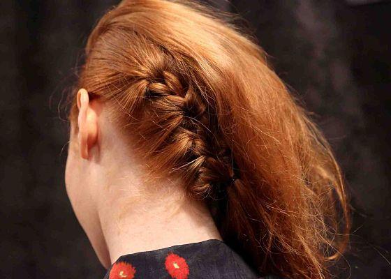 Peekaboo Hair Styles: Peek-a-boo Braid At Tracy Reese Spring 2013