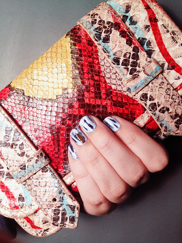How To Create Acid Wash Denim Inspired Nails Beauty Blitz
