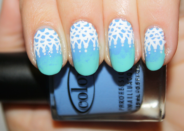 Nail Art Diy Ombre Lace Beauty Blitz