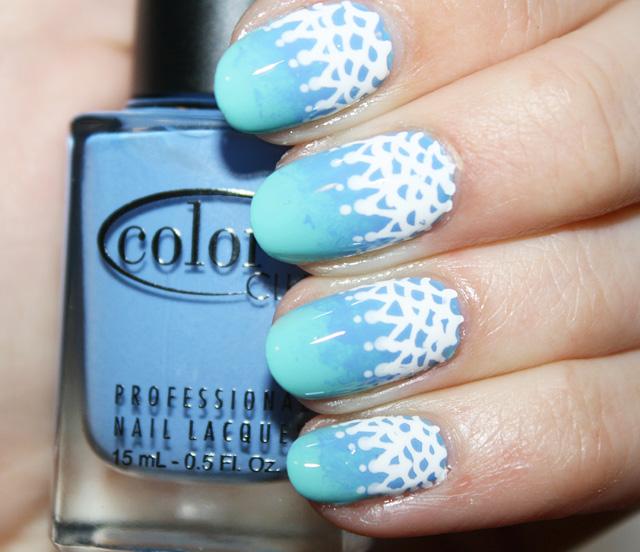 Nail Art Diy Ombre Lace Beauty Blitz