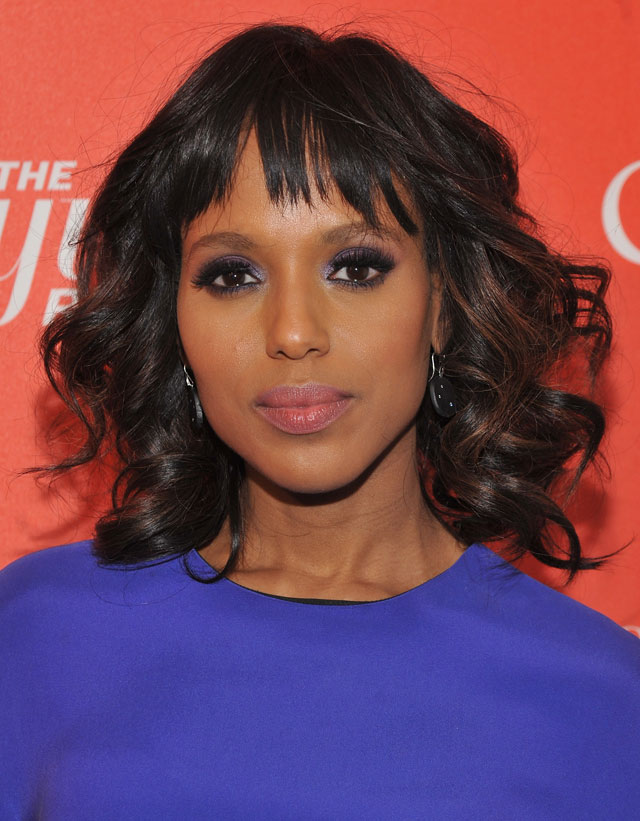 Balayage can help you get subtle highlights like Kerry washington's. Photo by: Getty Images