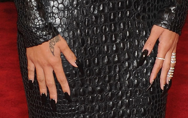 Rihanna's Met Gala manicure. Photo by: Wireimage