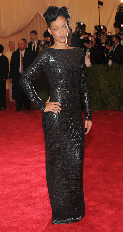 Rihanna in Tom Ford at the 2012 Met Gala. Photo by: Getty Images