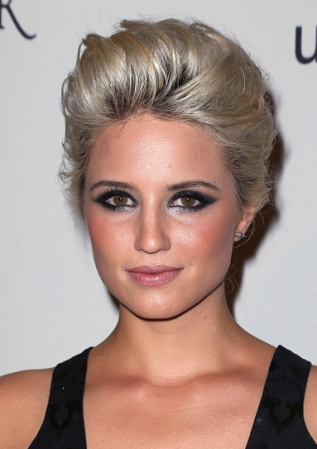 get the look dianna agron�s nocostume masquerade makeup
