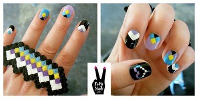 9 nail art blogs to inspire you beauty blitz supa nails berlin based illustratordesigner susa creates graphic art for fingertips were obsessed with her pixelated designs prinsesfo Choice Image